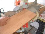 Cutting angles when installing laminate flooring, here you need to set the correct angle on the miter saw to make the cut.