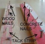 Description of tack strip for carpeting