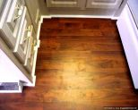 Allen Roth laminate installed in a kitchen in a mobile home