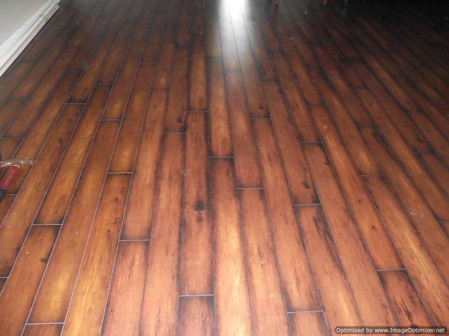 Lamton Virginia walnut laminate flooring, showing the finished flooring