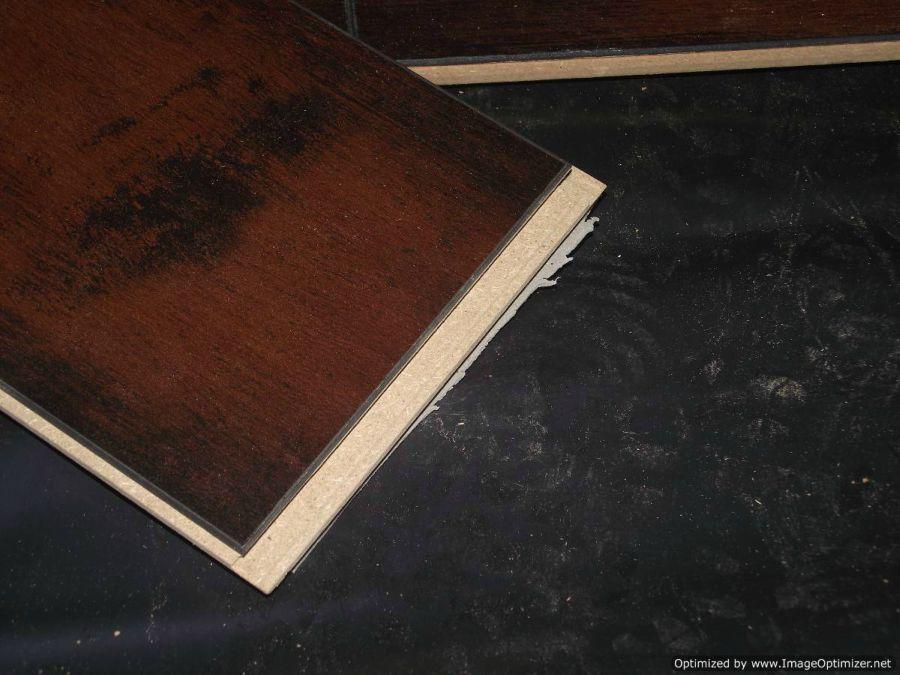Lamton Virginia walnut laminate flooring, excess padding on back