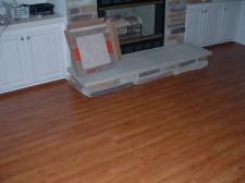 Columbia laminate installed under the fireplace