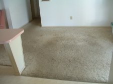 Lowes surface Source laminate flooring will be installed in this room, Before photo
