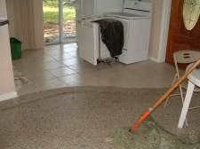 Here is the ceramic tile I needed to remove so I could install the Quick step laminate.