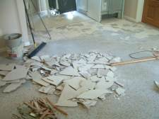 In the process of removing old tired ceramic tile