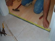 Measuring for the laminate transition mold