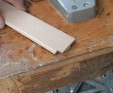 Here is the laminate transition with the corner cut out.
