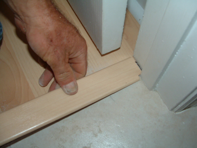 Inserting The Laminate Transition Into Track