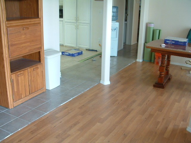 Where Laminate Meets Up To Ceramic Tile Installation When Installing Flooring I