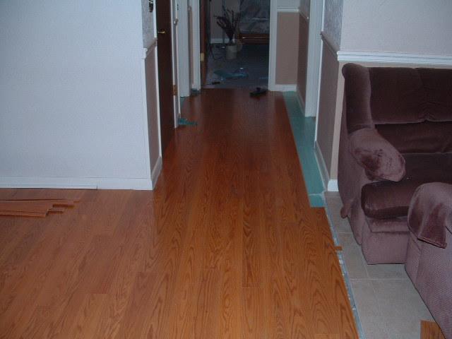 The Floor Extends Down Hallway