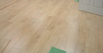 Balterio laminate flooring installed in a conference room