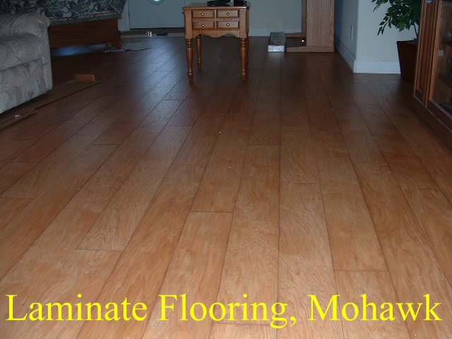 Mohawk laminate flooring with the beveled edge