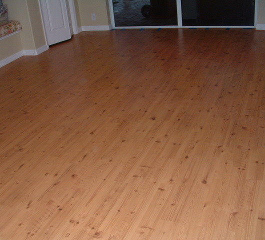 Shaw Gray laminate flooring, installed in living room