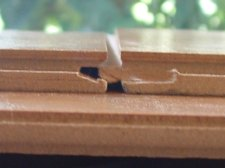 Armstrongs Swiftlock from Lowes end joint close up photo