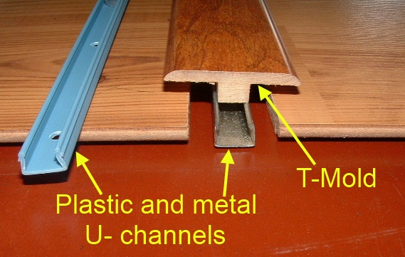 Example Of One Floor Being Higher Than The Other When Installing Laminate Transition Mold