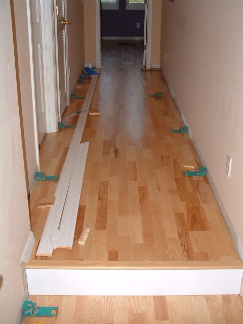 Karhs, Kalmar Ash floating wood flooring installed in a hallway