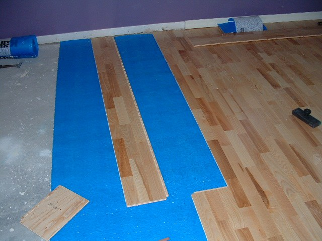 Karhs, Kalmar Ash floating wood flooring installed in a hallway - Installing Engineered Floating Wood Flooring