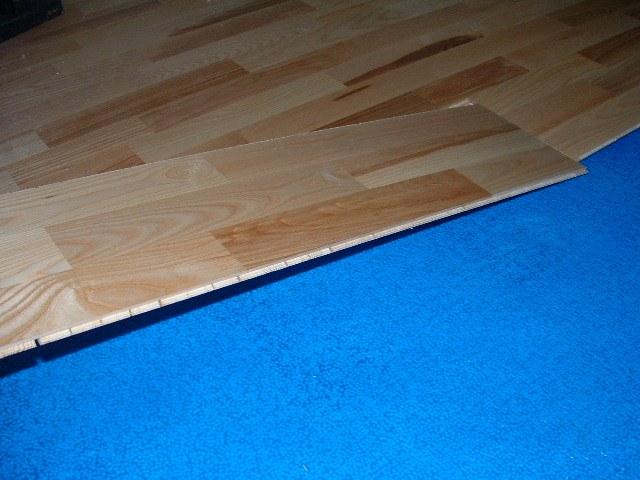 Karhs, Kalmar Ash floating wood flooring installed in a hallway