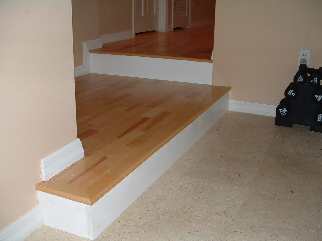 After Installation Is Complete With The Kahrs Hardwood Stair Noses Were Used On Edges