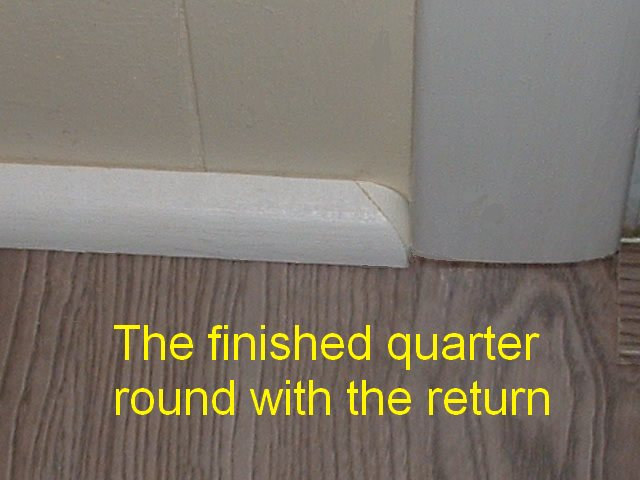 Cutting Quarter Round Returns