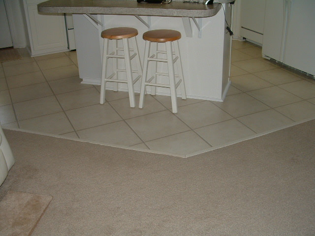 Quick Step Laminate Tile Installed In A Grid Pattern Like Real Ceramic