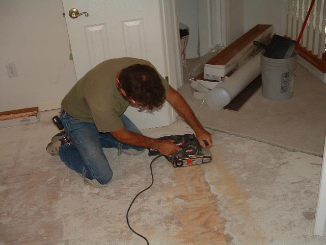 how to fix uneven plywood subfloor