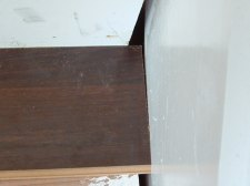 Here you can see the gap where the stair tread will meet the stringer