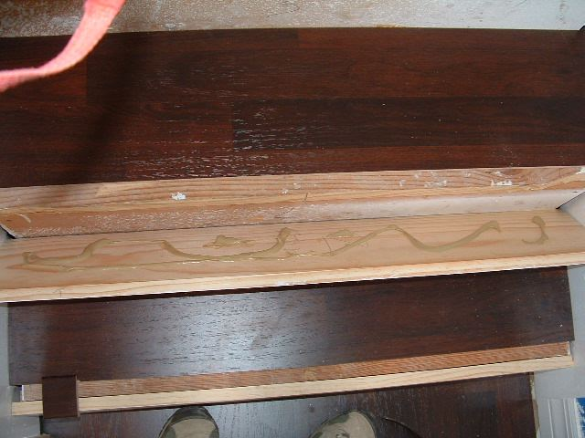 Laminate Flooring On Stairs I Applied The Glue To Back Of Riser Before