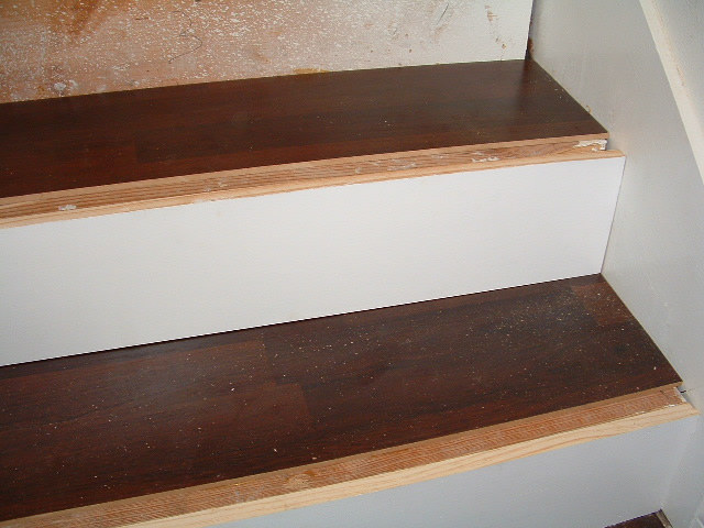 Installing Laminate Flooring On The Stair Treads.