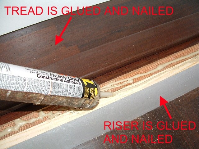 When I Install The Stair Nose I Apply Construction Adhesive