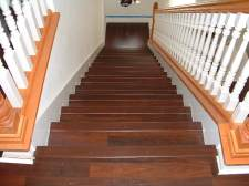 Stair nose at the top stair Mohawk laminate