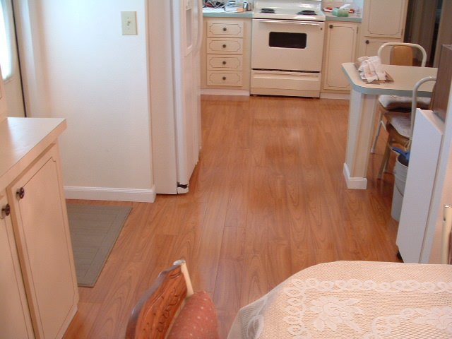 Laminate Flooring In A Kitchen bamboo kitchen floors After Installation Of Vanier Laminate Flooring In Kitchen