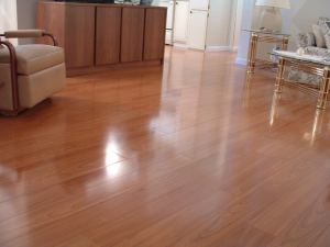 Vanier laminate flooring installed in living room photo