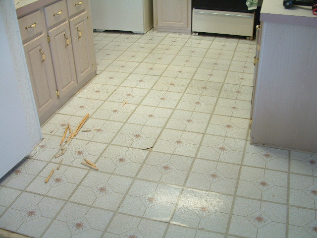 Quick Step Laminate Tile Will Be Installed In This Kitchen Is The Before Photo