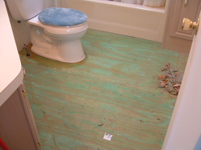 Before This Bathroom Is About To Have Quick Step Laminate Tile Installed I Just Remove The Toilet First