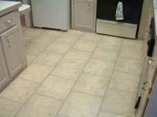 Quick step laminate tile will be installed in this kitchen. This is the before photo of the kitchen