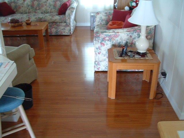 Vanier Laminate Flooring Color:Doussie Installed In Living Room Photo