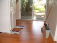 The finished room with the Quick step laminate flooring