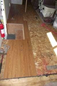 Vinyl laminate flooring,installing it in a motor home
