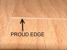 Pergo Presto with a proud edge, which is one side of the end joint is higher than the other