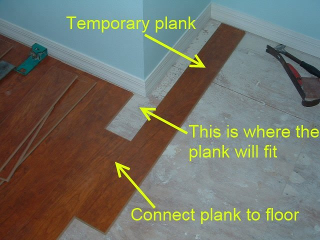 Delightful Cutting Laminate Around Corners Is Easier When I Install This Temporary  Plank.