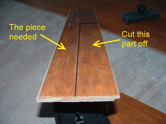 Cutting Laminate Around Corners Is Easier When I Install This Temporary Plank