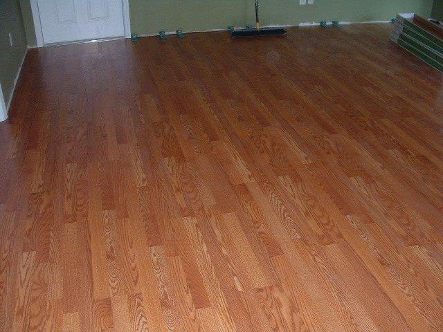 ... Sams Club Traditional Living Laminate Flooring Golden Amber Oak After  Installation.