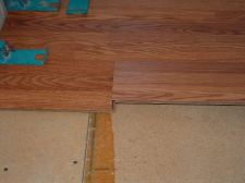 This is the second step to connect the Pergo Casual Living laminate flooring planks together.