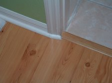 This is the incorrect way to address a door jamb when installing laminate flooring