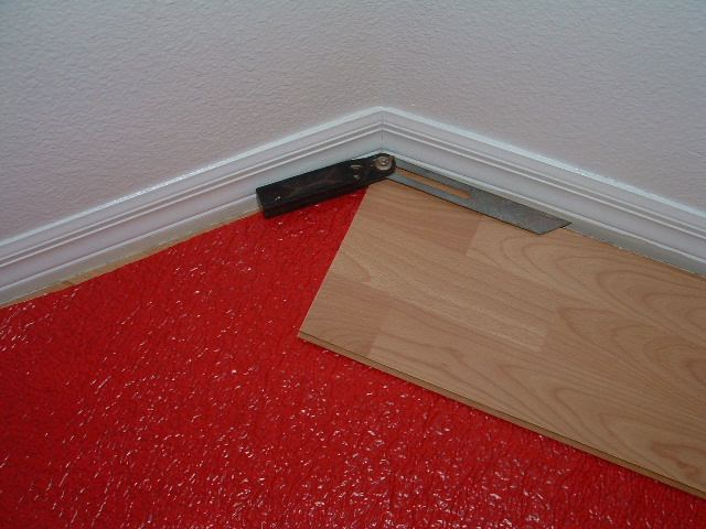 Using The Angle Finder Tool To Cut Angles When Installing Laminate Flooring