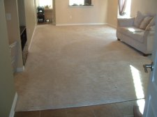 14 mm Toklo laminate flooring will be installed in this room after the carpet is removed