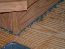 In older mobile homes the carpet needs to be cut out from underneath the walls so laminate flooring can be installed.