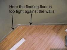 Laminate flooring too tight against walls