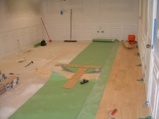 Balterio laminate flooring, in the process of installation
